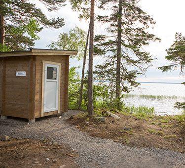 sauna at lake Unden