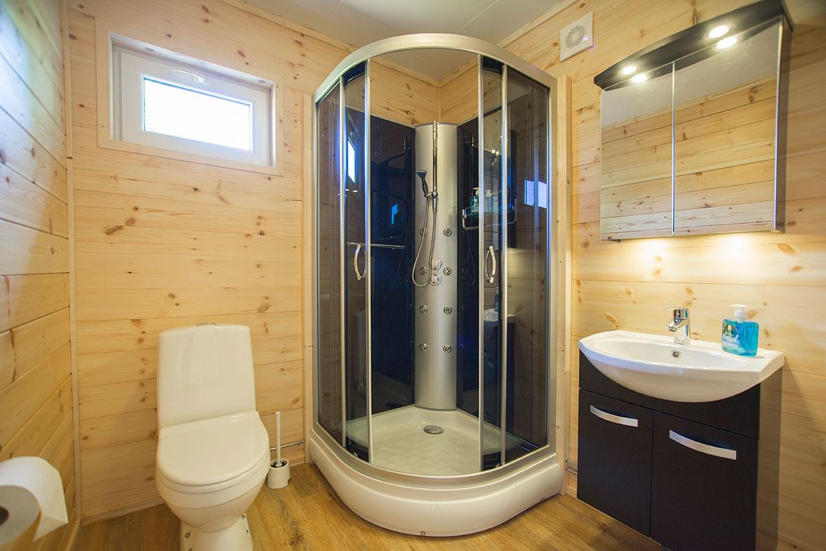 Dusch i hotellrum Hamgården