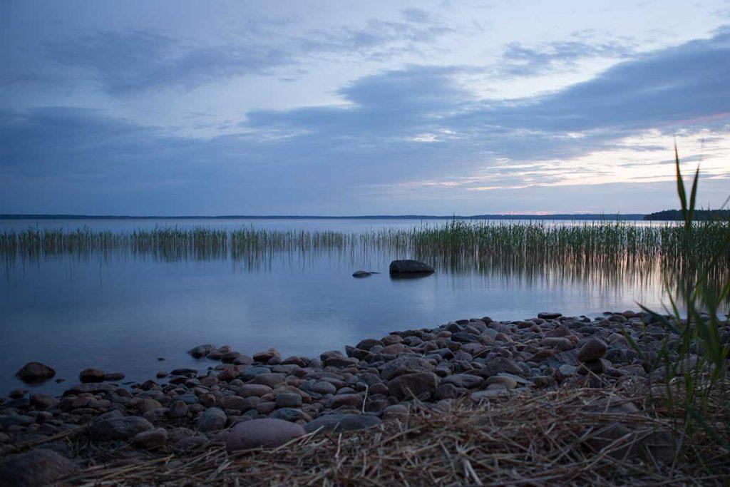 Vattensidan sjön Unden Hamgården