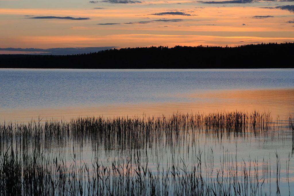 Solnedgång over Unden