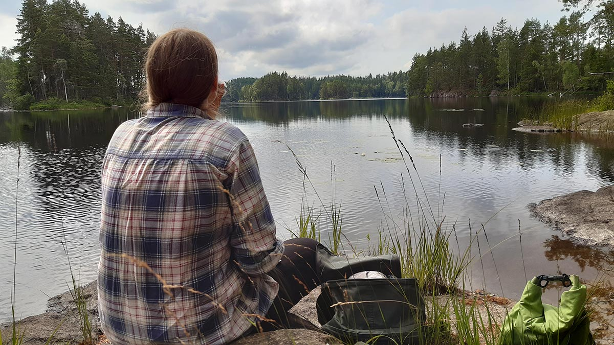 Urskogsvandring i Tivedens nationalpark